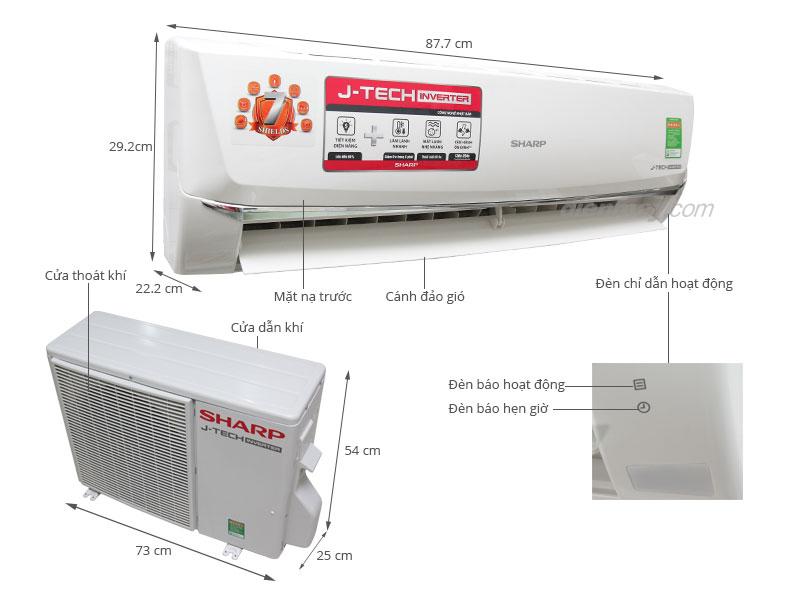 Đánh Giá Điều Hòa Sharp 1 Chiều 12000BTU AH-X12SEW Inverter
